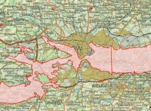 Screen z mapki - przykładowo teren Krakowa