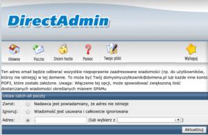 Konfiguracja catch-all w Direct Admin - przekierowanie poczty