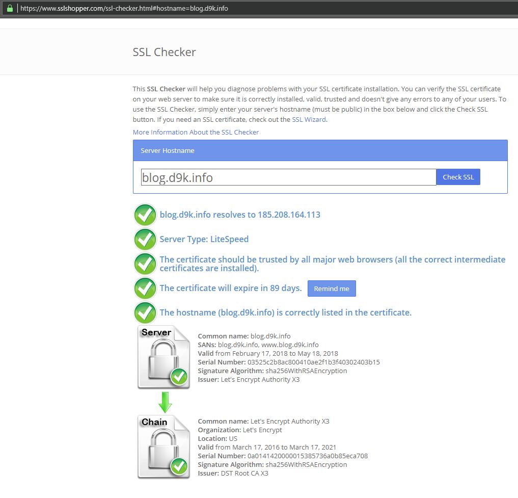 SSL checker